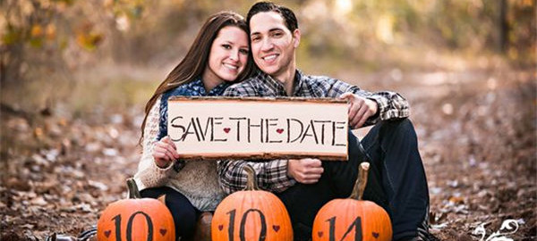 Fall Save the Date Ideas Pumpkin Save the Dates