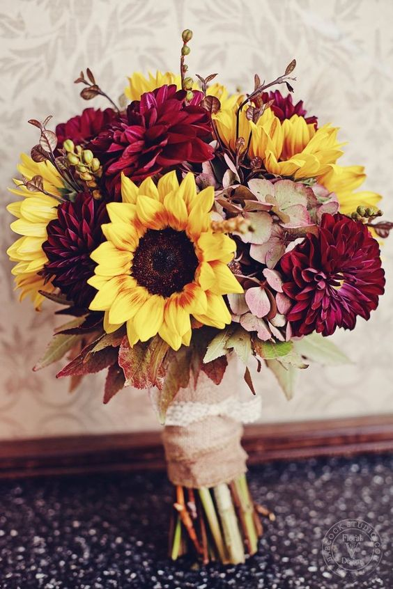 Fall wedding Bouquets on WeddingWire