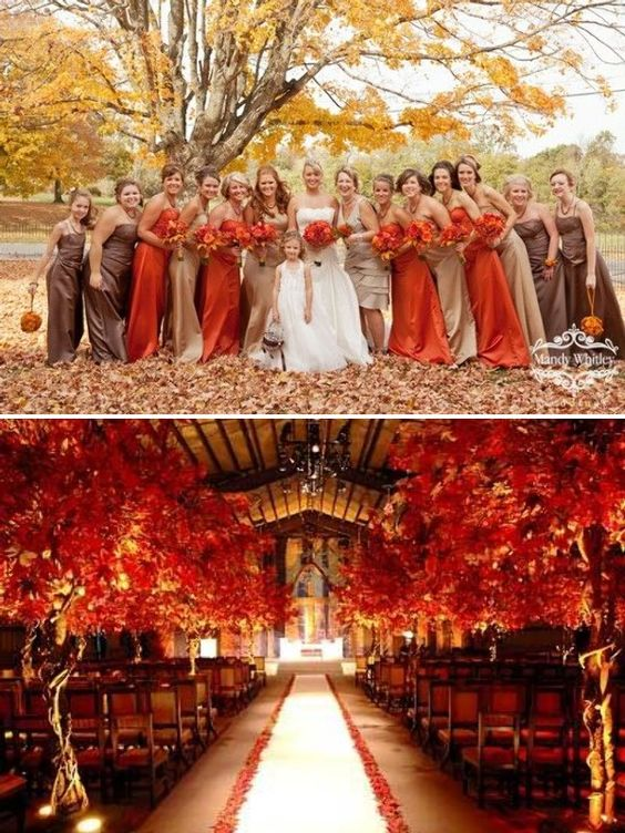 Fall wedding color and photography ideas