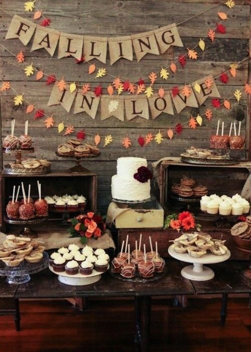 Falling in love wedding ideas for fall wedding