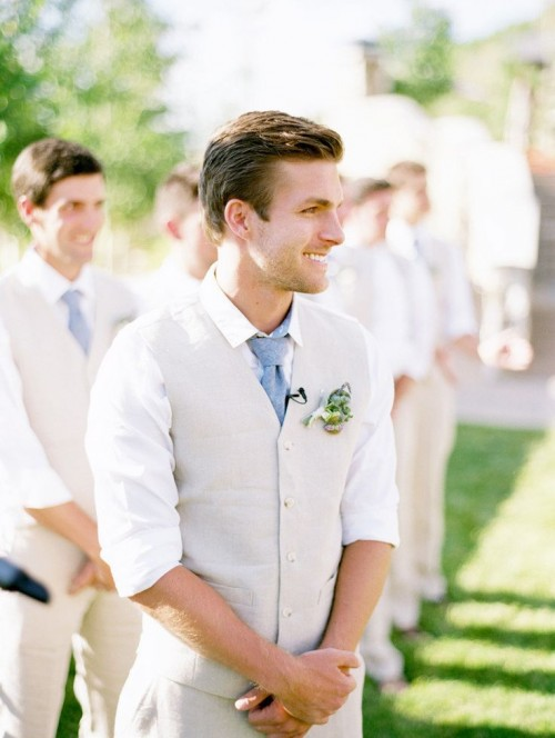 How gorgeous are the boys' here in their Summer wedding