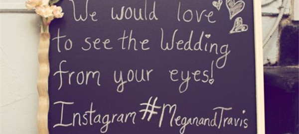 Instagram your wedding and get fun wedding hashtag