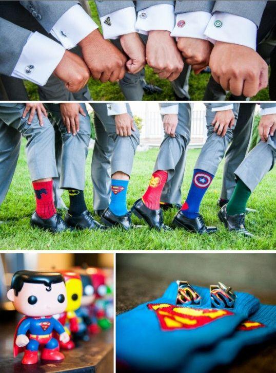 Love these superhero groomsmen