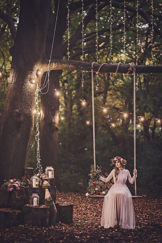 Magical Midsummers Night Dream Woodland Wedding Inspiration