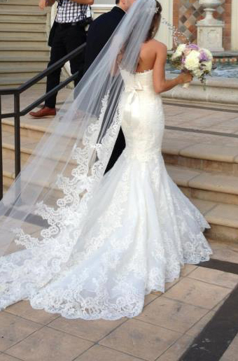 Momma knows me so well.. LOOOVVEE this dress style with all the lace and a gorgeous veil