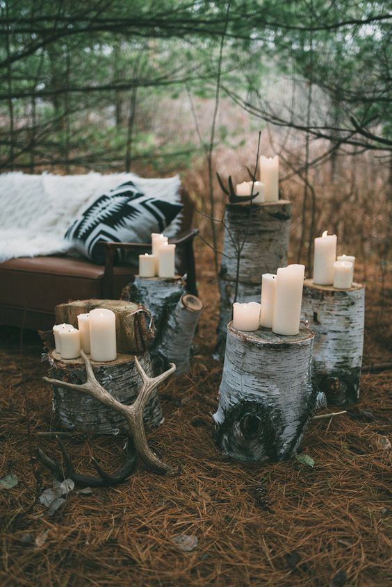 Nordic Inspired Woodland Wedding - Photo by LV imagery