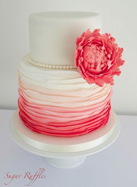 Ombre Wedding Cake Ideas from Sugar Ruffles