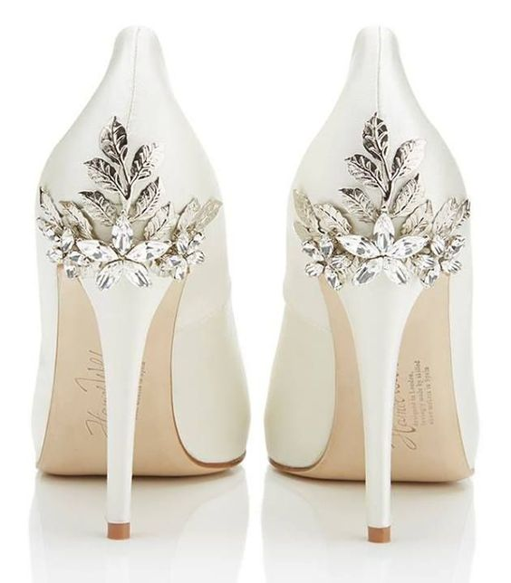 Ornate White Bridal Shoes By Harriet Wilde