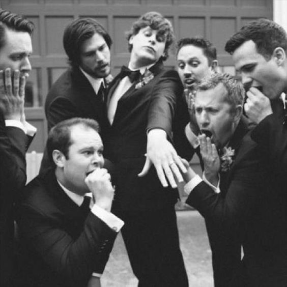 Our groomsmen would have TOTALLY done this shot!!!!!! LOVE IT