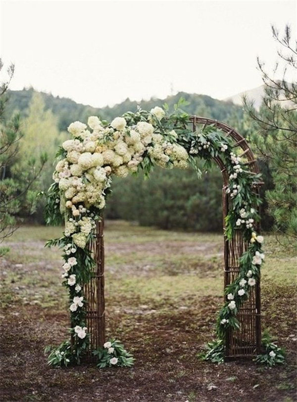 Outdoor Wedding Ceremony Flower Wedding Arch Ideas | WeddingInclude ...