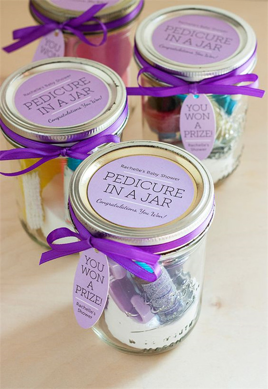 Pedicure In A Jar Shower Gift Favors With Green Visions Spa Therapy Sugar Scrub Body