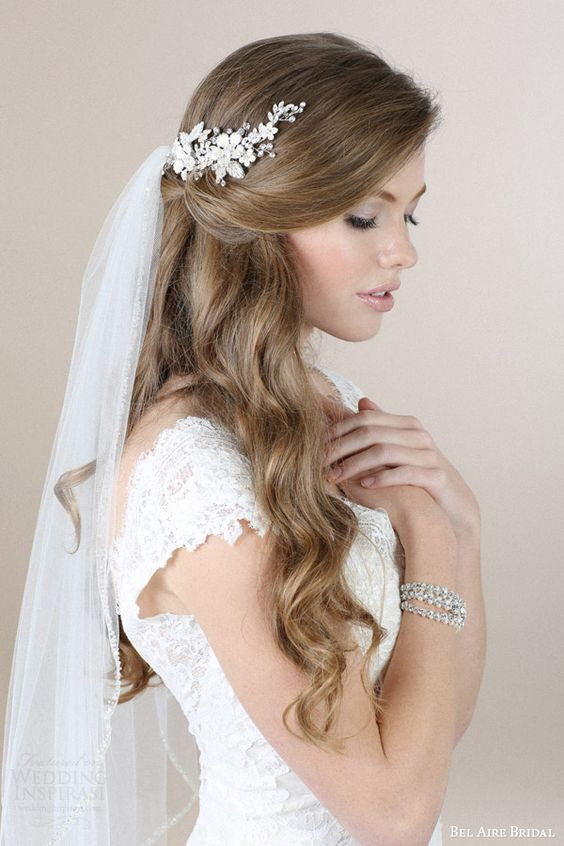 Romantic Accessories and wedding veil by Bel Aire Bridal