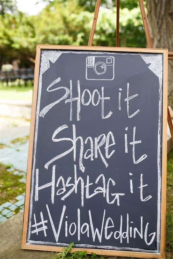 Simple wedding hashtag ideas