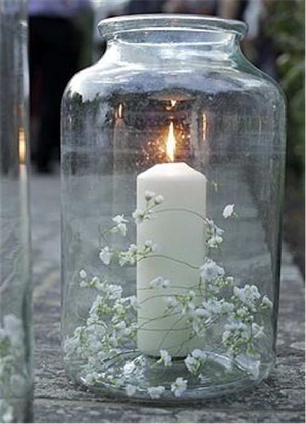 Table decorations Light and pretty! Replace baby breath flowers