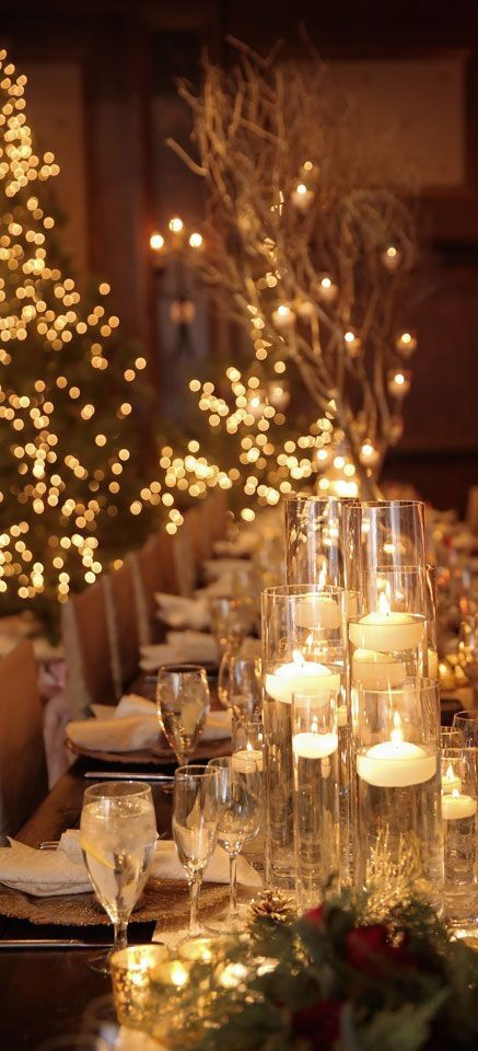 Tall candle holder wedding decor
