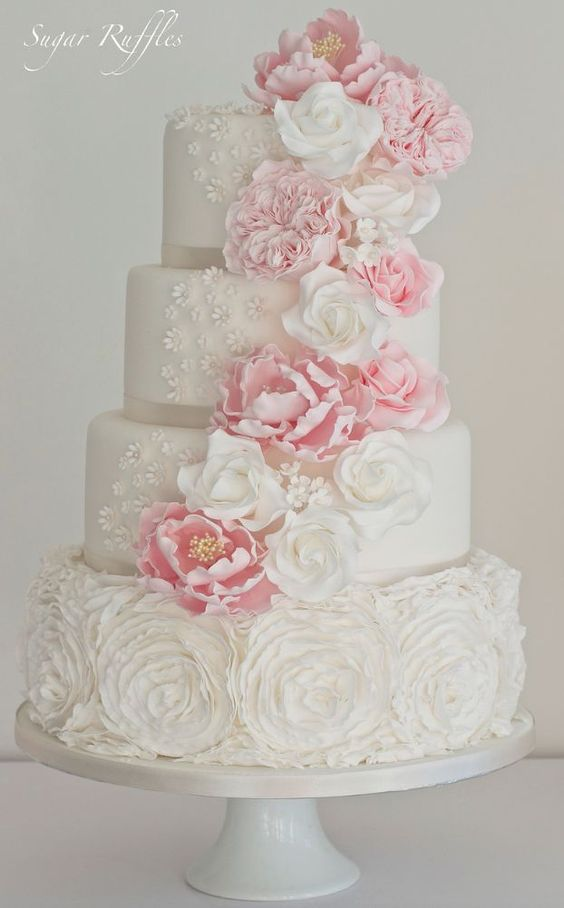 The simple beauty is what stands out the most in these wedding cakes!