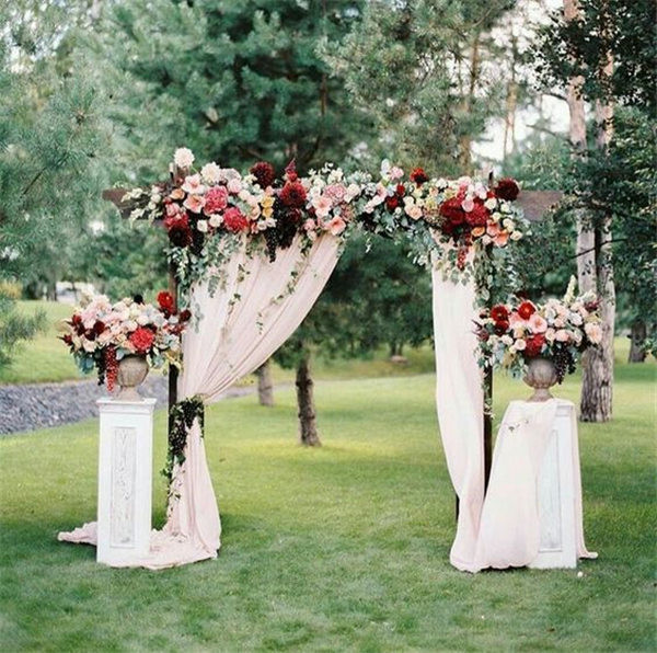 Wedding decor flowers ideas & 20 DIY Floral Wedding Arch Decoration Ideas