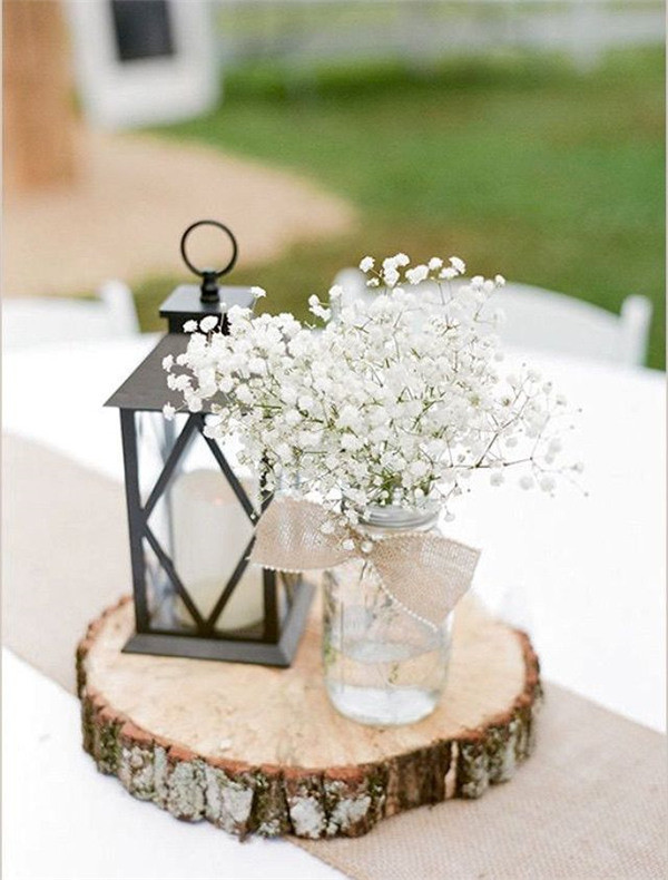 Wedding decor with baby's breath
