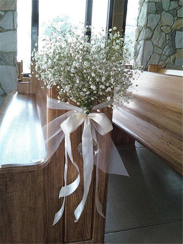 Wedding decorations with baby's breath