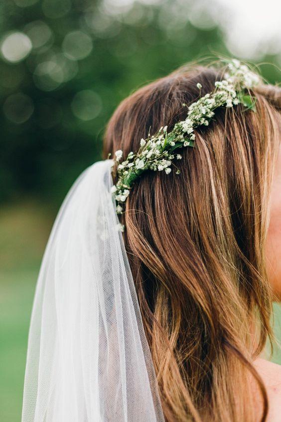 Wedding viles and greenery