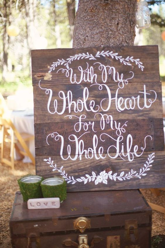 Woodland wedding sign ideas