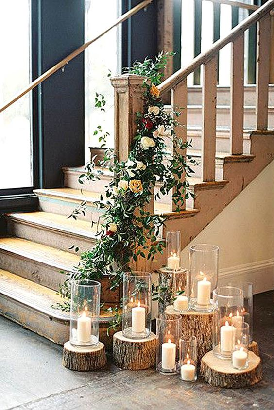 beautiful candles for wedding decorations