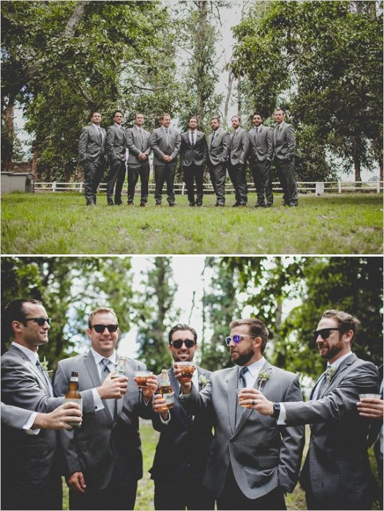 dark gray groomsmen looks