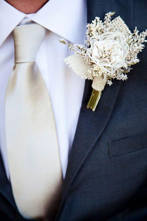 wedding boutonniere photo by Cory Kendra