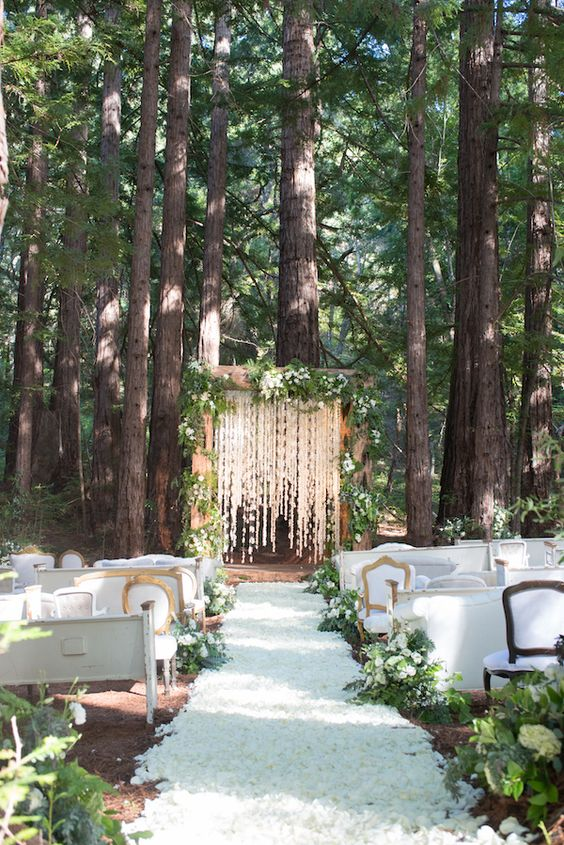 Diy Forest Wedding Ceremony Decor