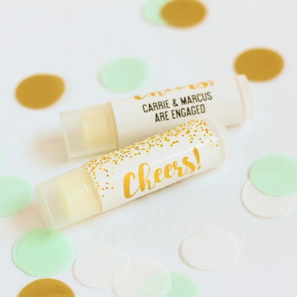 10.Personalized Lip Balm Party Favor
