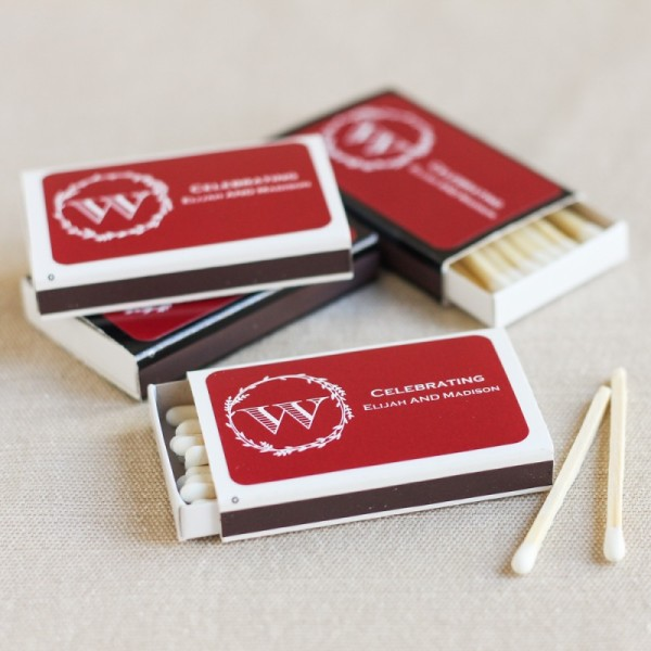 18.Personalized Wedding Matchboxes