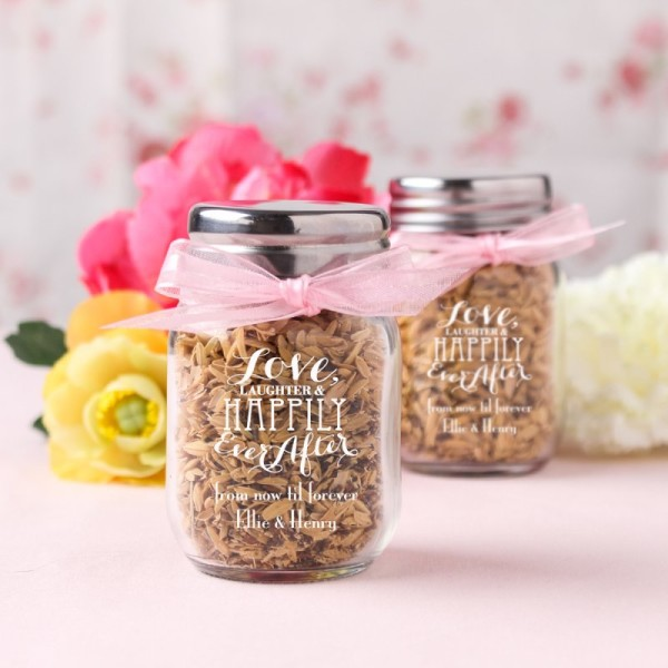 2.Printed mini mason jars