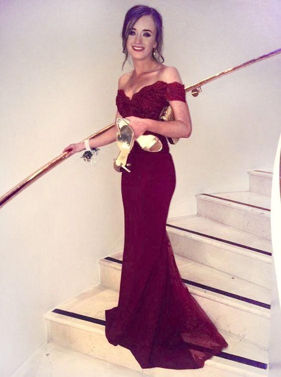 2017 Elegant Burgundy Mermaid Bridesmaid Dresses