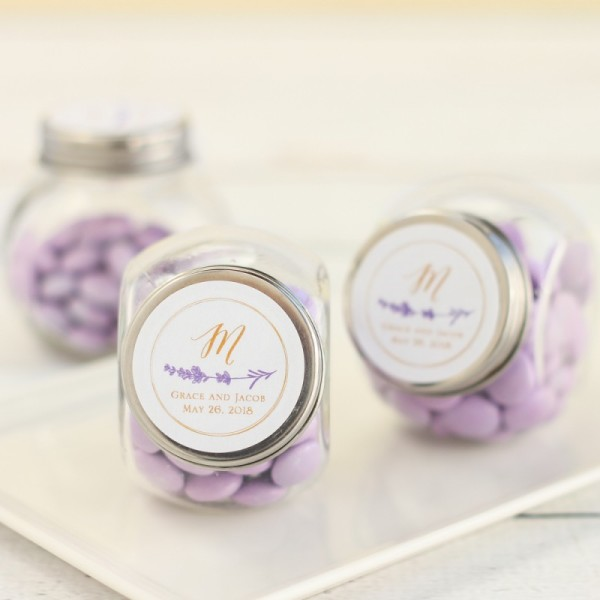 6.Personalized Wedding Themed Candy Jars