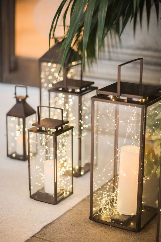 Beautiful wedding lanterns via stylemeprettyPhotography by Larissa Cleveland