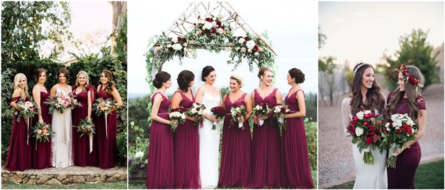 Breathtaking Burgundy Bridesmaid Dresses for Fall and Winter