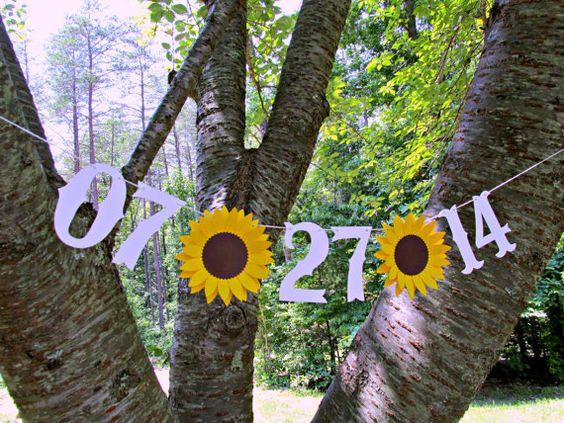 Custom Save The Date SUNFLOWER Wedding by SweetPaperSprinkles