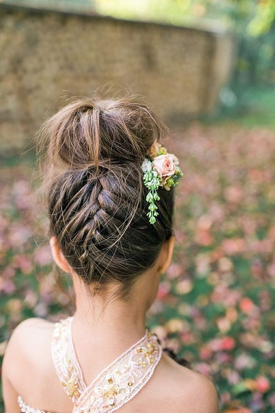 Cute Flower Girl Hairstyles Here you find some simple flower girl hairstyles and more complex which made by a professional