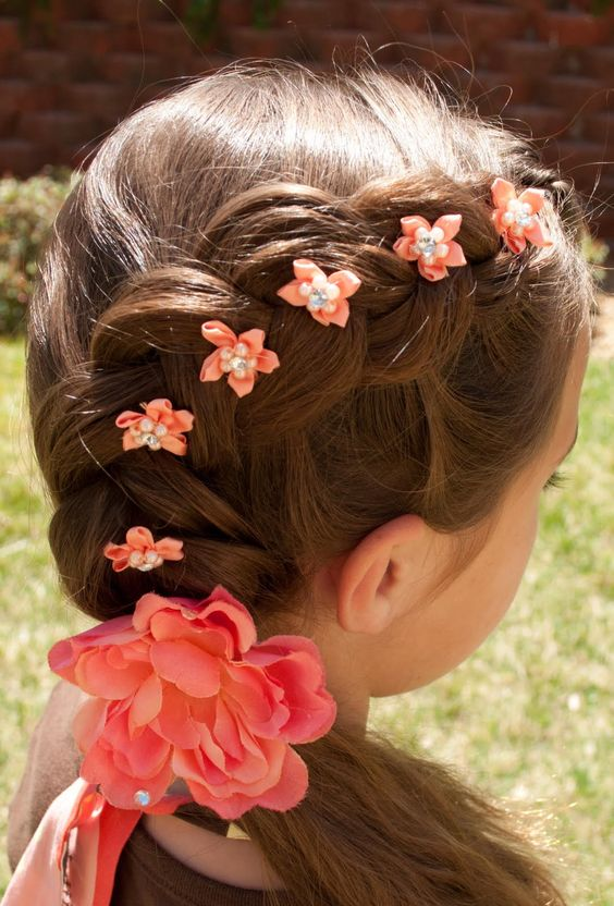 Dutch flower braid. Perfect for flower girl