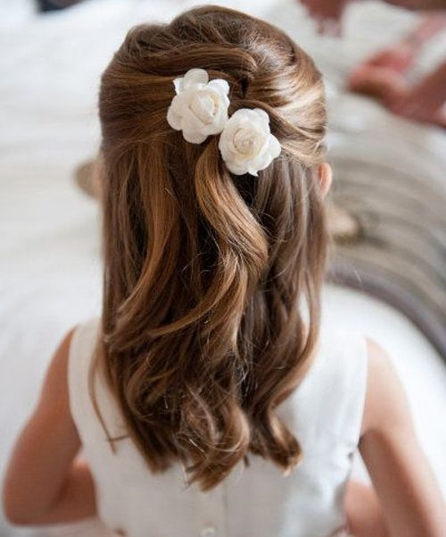 Easy and Beautiful Flower Girl Hairstyles