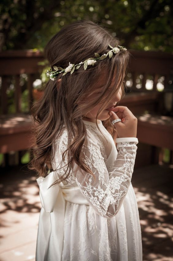 Etsy Flower Girl Dresses and hairstyles