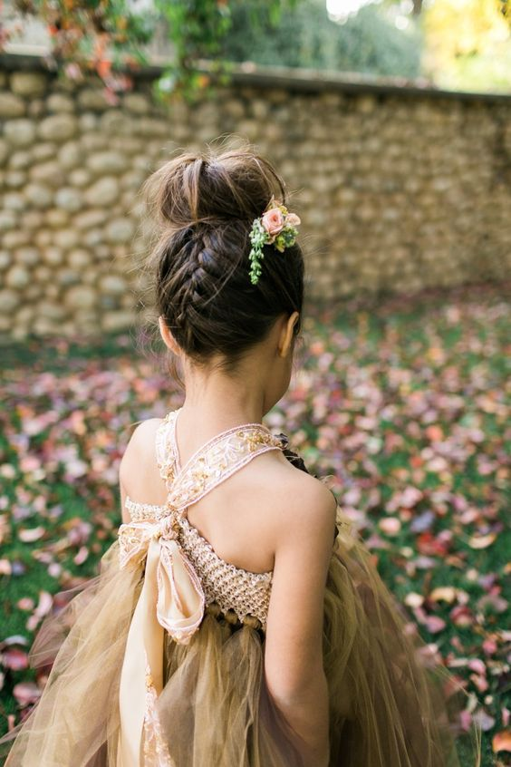 Forest-Inspired flower girl hairstyles