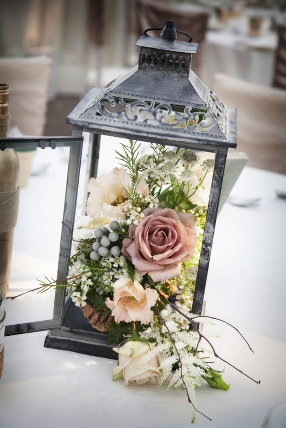 Glamorous Country Garden Wedding Lanterns