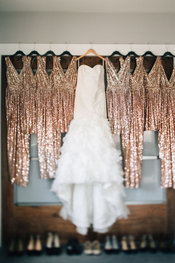 Glittering Gold Glamour Rachel + Chad's Sparkling Wedding