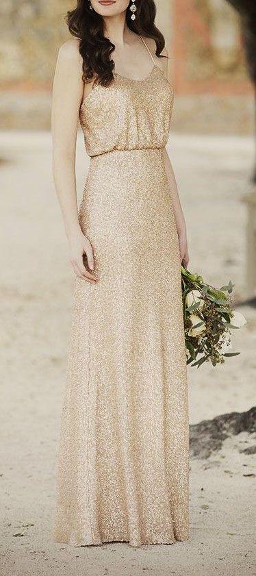 Gold bridesmaid dresses Sorella Vita design