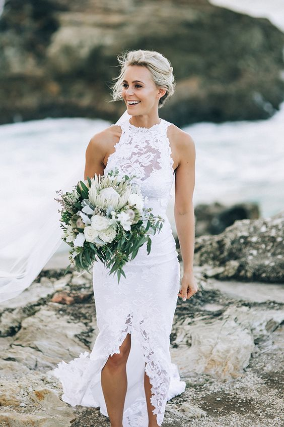 Grace Loves Lace gown for beach wedding