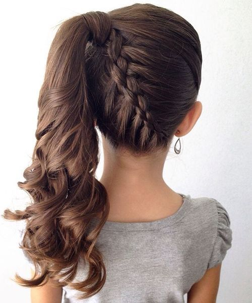 Great Stylish Braided Ponytail Hairstyles for FlowerGirls