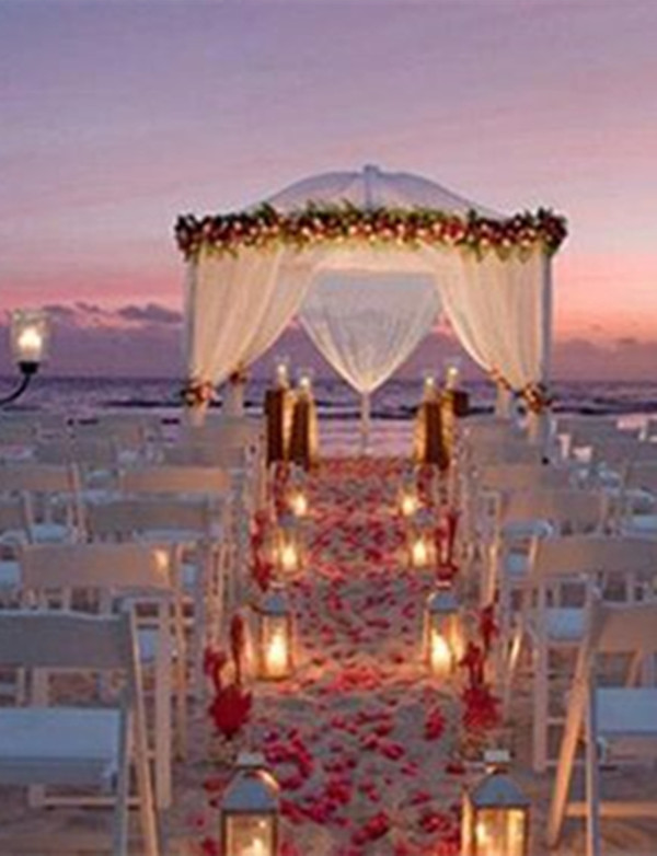 How to plan a Wedding Ceremony NIGHT BEACH WEDDING