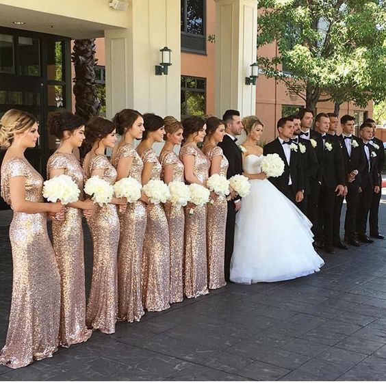 Love those rose gold bridesmaid dresses weddinginclude wedding love those rose gold bridesmaid dresses junglespirit Image collections