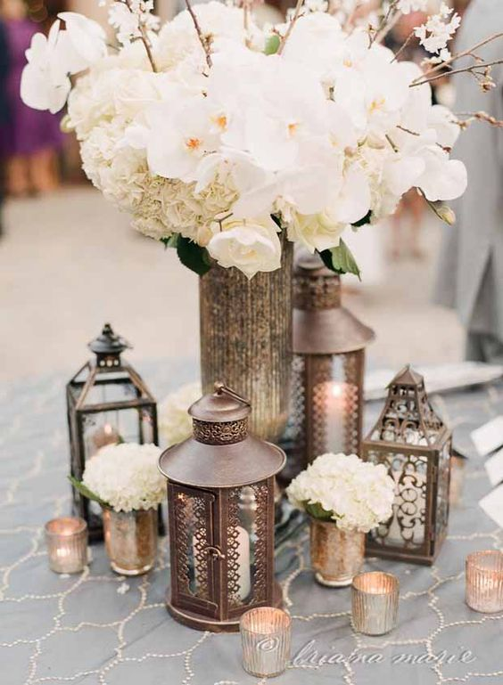 Moroccan Boho Chic Wedding Lanterns Inspiration